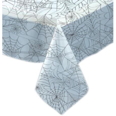 Pókháló Mintás Áttetsző Asztalterítő Halloweenre - 137 cm x 274 cm, abrosz