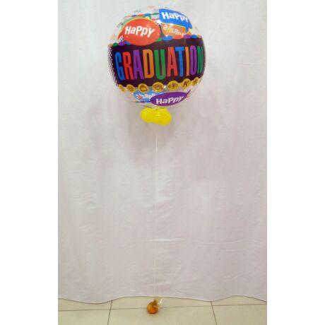 Happy Graduation bubble léggömb, basic