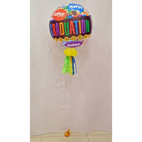 Happy Graduation bubble léggömb, extra