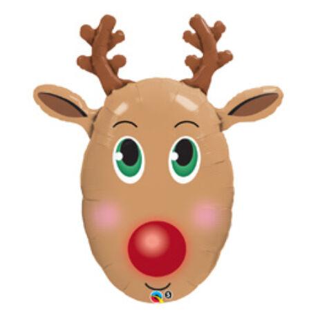 36 inch-es Red-Nosed Reindeer - Rénszarvas Karácsonyi Fólia Léggömb