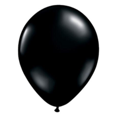 5 inch-es Onyx Black (Fashion) - Fekete Kerek Léggömb