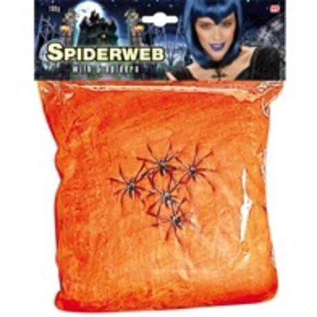 100g narancssárga pókháló 5 pókkal