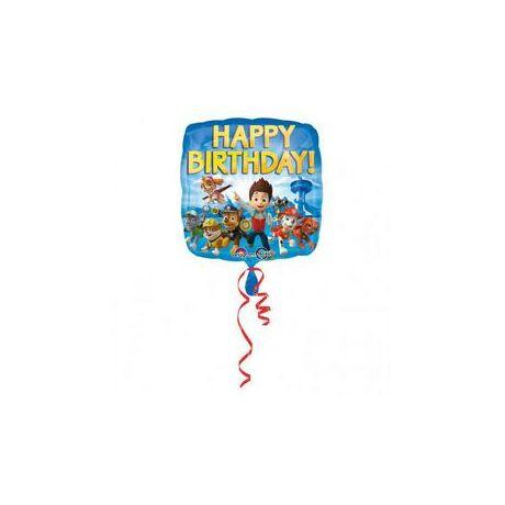18 inch-es Paw Patrol - Mancs Őrjárat Happy Birthday Születésnapi Fólia Lufi