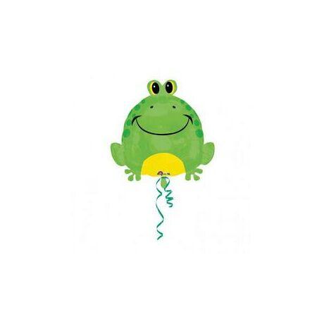 18 inch-es Happy Frog - Boldog Béka Junior Shape Fólia Lufi/Léggömb