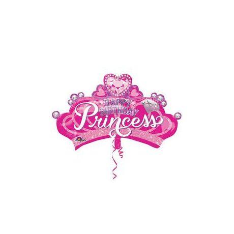 32 inch- es Hercegnő Korona/Tiara Szülinapi Super Shape Fólia Lufi