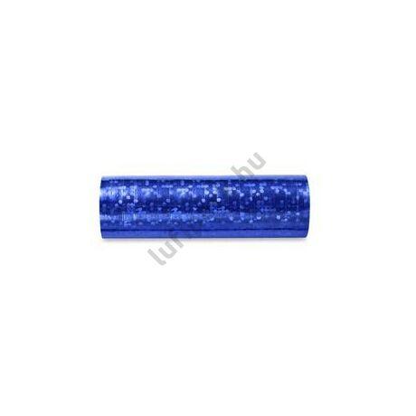 Kék Hologramos Szerpentin - 4 m, 18 db-os