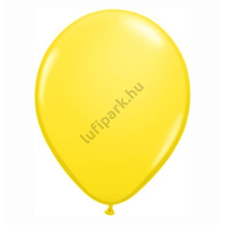 16 Inch-Es Yellow (Standard) Kerek Lufi