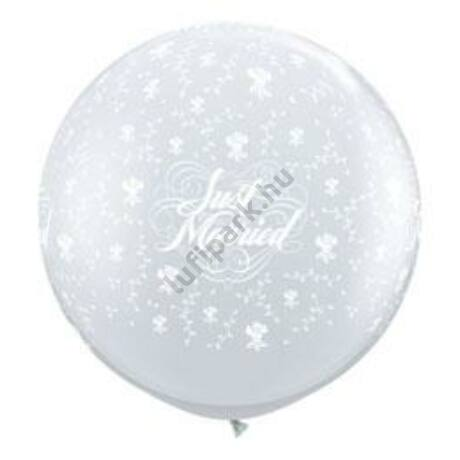 3 Feet-Es Just Married Flowers-A-Round Diamond Clear Lufi