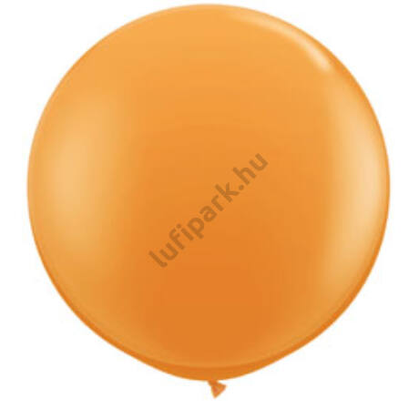 3 Feet-Es Orange (Standard) Kerek Latex Lufi