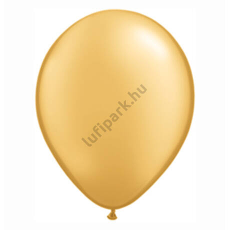 5 Inch-Es Gold (Metallic) Kerek Lufi