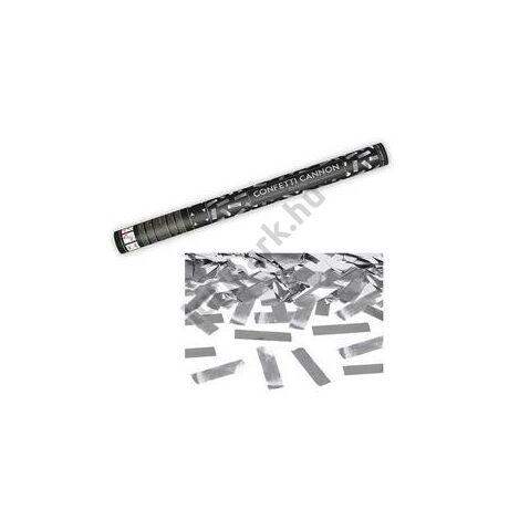 60 cm-es, Ezüst Téglalapokat Kilövő Konfetti Ágyú