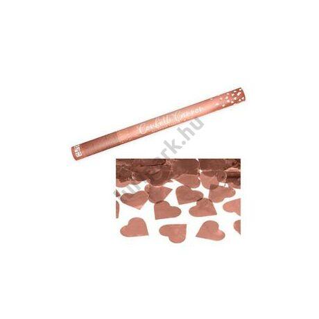 60 cm-es, Rosegold Sziveket Kilövő Konfetti Ágyú