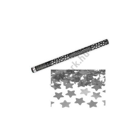 80 cm-es, Ezüst Csillagokat Kilövő Konfetti Ágyú