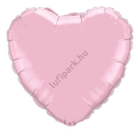 18 inch-es Gyöngyház Rózsaszín - Pearl Pink Szív Fólia Léggömb