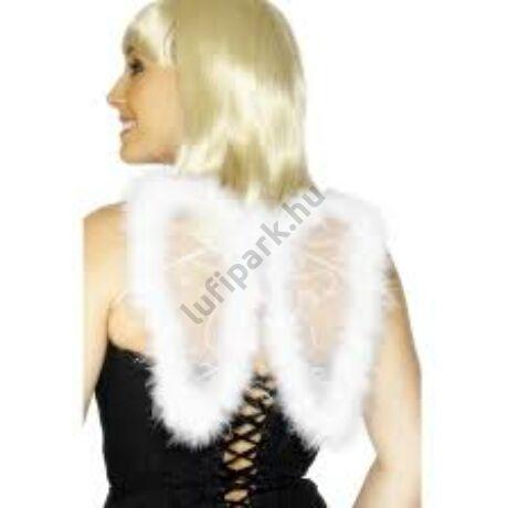 Fehér mini angyalszárny marabu tollakkal