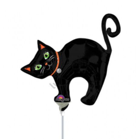Fekete Macska - Halloween Cat Mini Shape Fólia Lufi