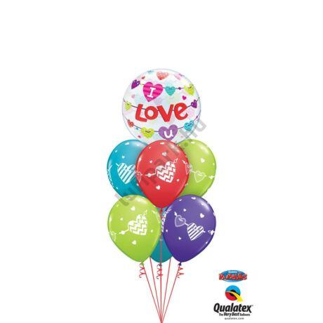 I_love_you_színes szívek XL csokor