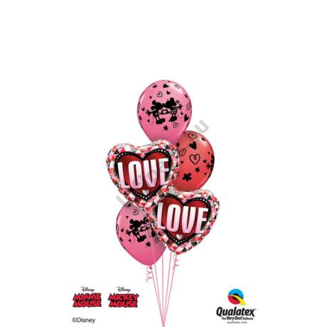 Love pink_red Mickey&Minnie csokor