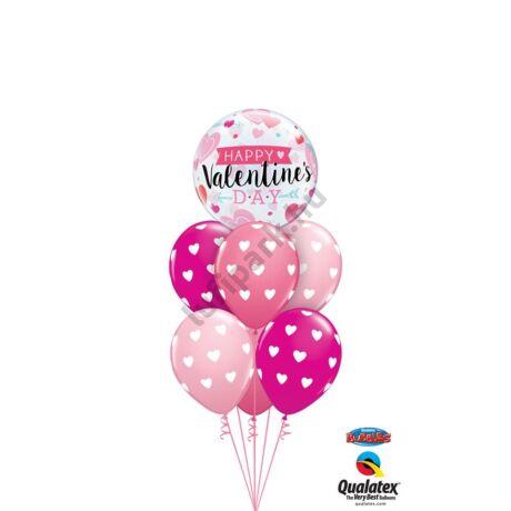 Valentin szíves Bubble XL csokor