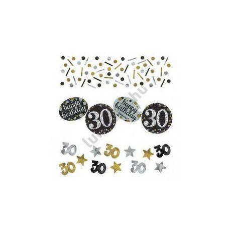 30-as Szülinapi Számos Arany - Ezüst Vegyes Konfetti Válogatás - 34 gramm