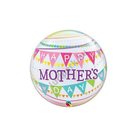 22 inch-es Mothers Day Pennants Anyák-napi Bubble Lufi