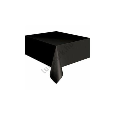 Black Műanyag Parti Asztalterítő - 137 cm x 274 cm