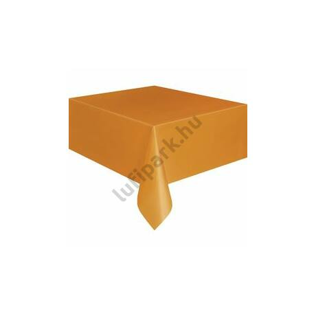 Pumpkin Orange Műanyag Parti Asztalterítő - 137 cm x 274 cm