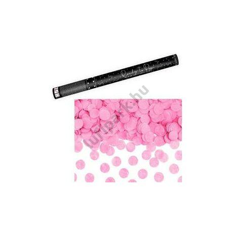 60 cm-es, Rózsaszín Kerek Konfettiket Kilövő Konfetti Ágyú