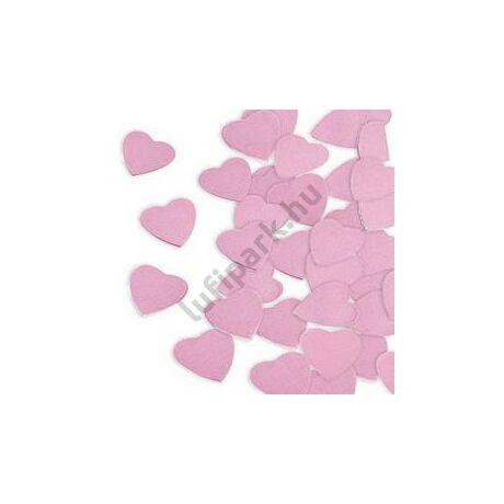 Rózsaszín Papír Szív Konfetti, 300 gr-os