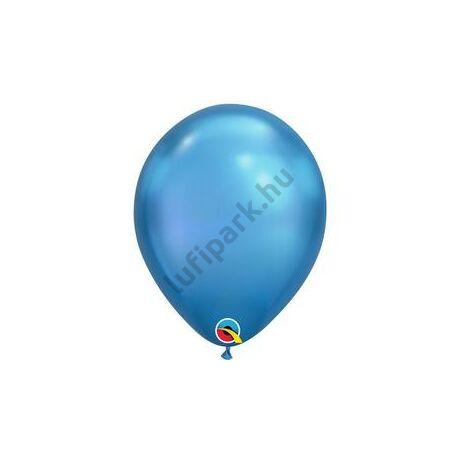 11 inch-es Chrome Blue - Kék Kerek Lufi