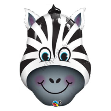 32 inch-es Zany Zebra - Zebra Fej Fólia Léggömb