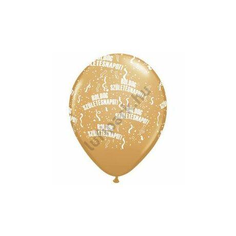 11 inch-es Boldog Születésnapot Metallic Gold - Arany Lufi