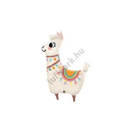 45 inch-es Loveable Llama- Szeretnivaló Láma Fólia Lufi