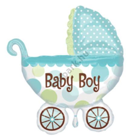Baby Buggy Boy Super Shape Bébi Fólia Léggömb Babaszületésre