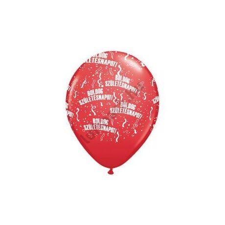 11 inch-es Boldog Születésnapot Sparkling Burgundy - Bordó Lufi