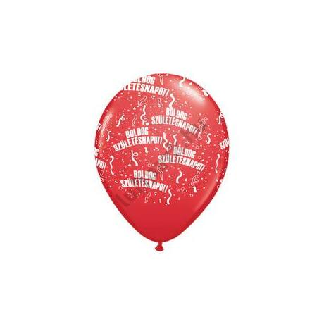 11 inch-es Boldog Születésnapot Red Lufi