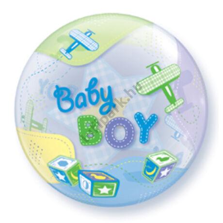 22 inch-es Baby Boy Airplanes Bubble Lufi Babaszületésre