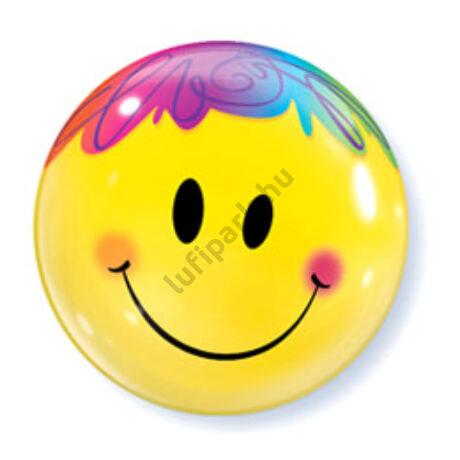22 inch-es Mosolygó Arc - Bright Smile Face Bubbles Lufi