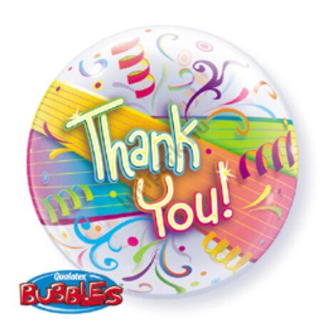 22 inch-es Thank You Streamers - Köszönettel Bubble Léggömb