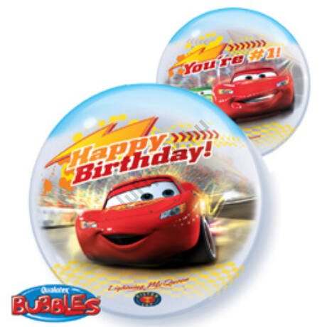 22 inch-es Disney Bubbles Cars Birthday Szülinapi Lufi