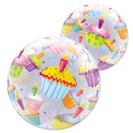 22 inch-es Muffinos - Cupcakes Bubble Léggömb