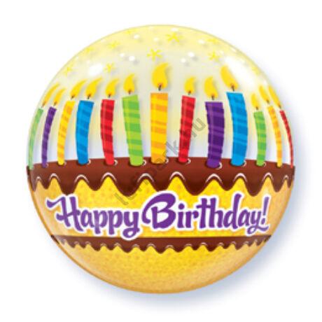 22 inch-es Birthday Candles and Frosting Születésnapi Bubble Léggömb