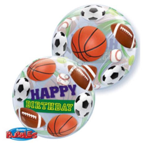 22 inch-es Birthday Sport Ball - Sportlabdás Születésnapi Bubble Léggömb