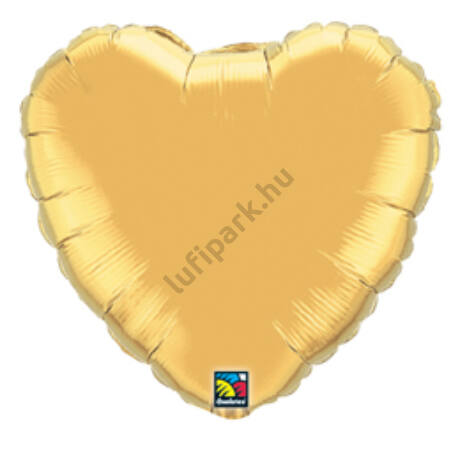 18 inch-es metál arany - Metallic Gold szív fólia lufi