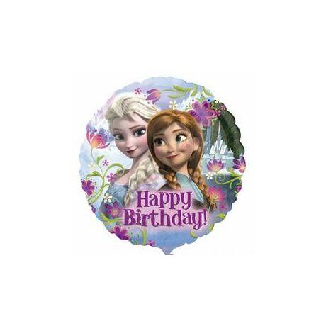 18 inch-es Happy Birthday Jégvarázs - Disney Frozen - Szülinapi Fólia Léggömb