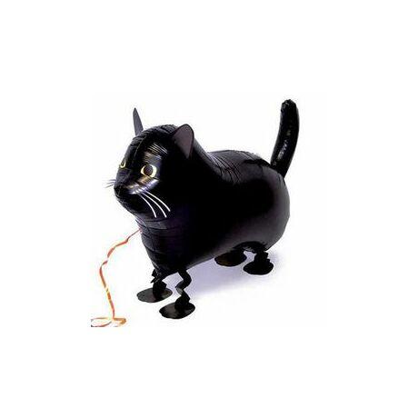 Sétáló Fekete Macska Léggömb
