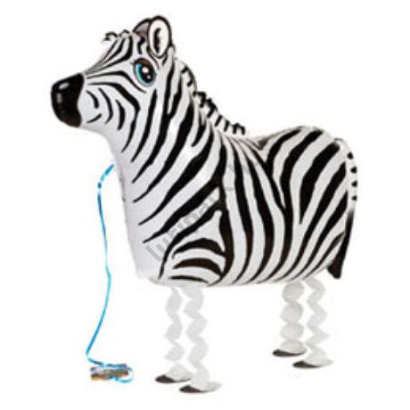 Sétáló Zebra Léggömb