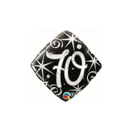 18 inch-es 70. Szülinap Elegant Sparkles and Swirls Születésnapi Számos Fólia Léggömb