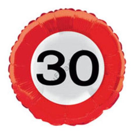 18 inch-es 30-as Számos Sebességkorlátozó Születésnapi Fólia Léggömb