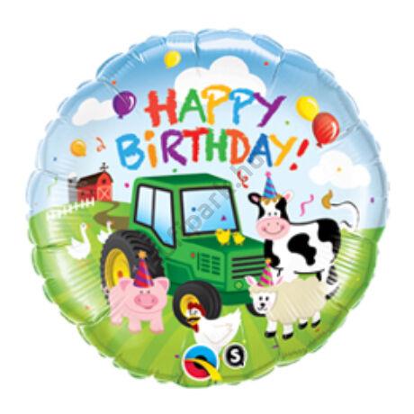 18 inch-es Farm Állatos - Birthday Barnyard Születésnapi Fólia Léggömb